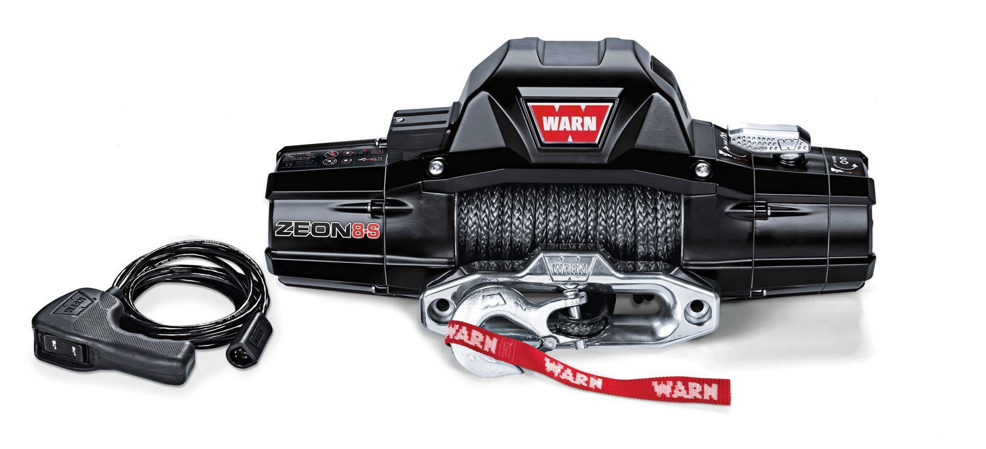 Warn 89305 ZEON 8-S WINCH with 100 feet Synthetic Rope and 8,000 lb Capacity