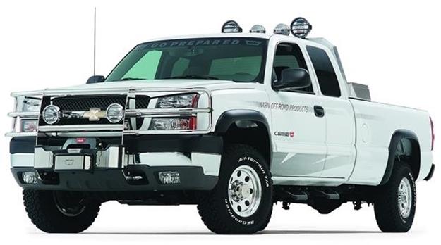 Picture of Black Grille Guard for '01-'02 Chevy Silverado 2500/3500 - 61145