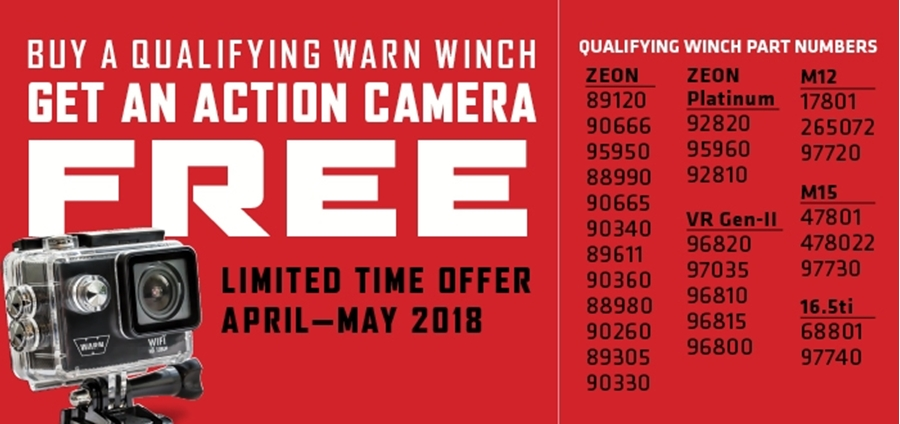 Buy a WARN Truck Winch, Get a Free Action Camera