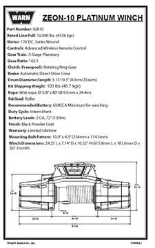 Image de ZEON 10 PLATINUM Replacement Parts Catalog