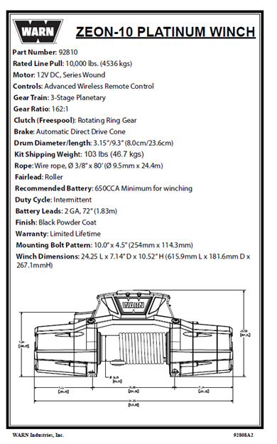 Image sur ZEON 10 PLATINUM Replacement Parts Catalog