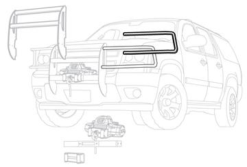 Image de Black Brush Guard for '07-'13 Chevy Silverado Trucks - 75590