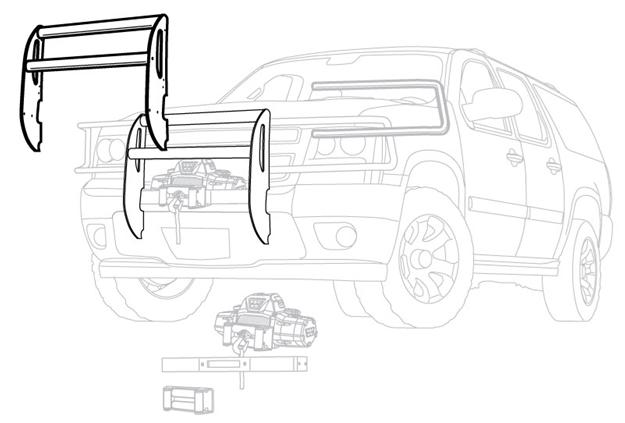 Image sur Black Trans4mer Grille Guard for '06-'08 Dodge Ram 1500 - 75515