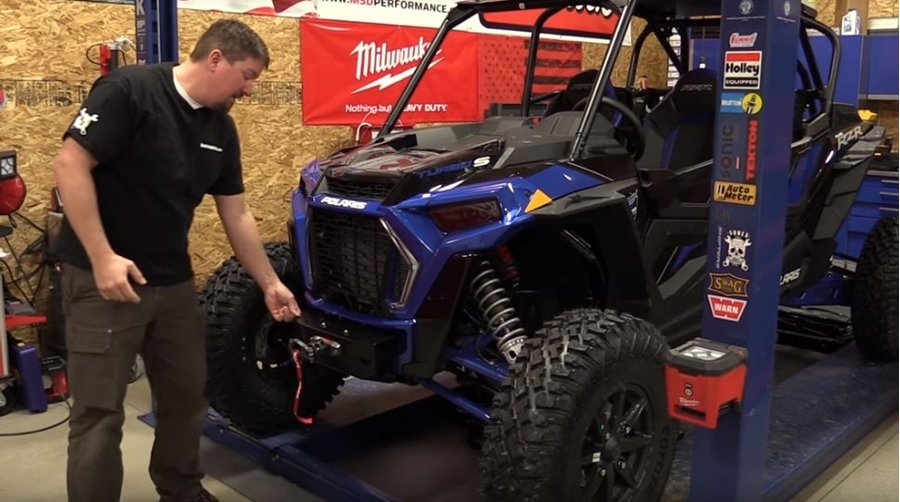 Installing a WARN Bumper and AXON 45Rc Winch on a Polaris RZR Turbo S
