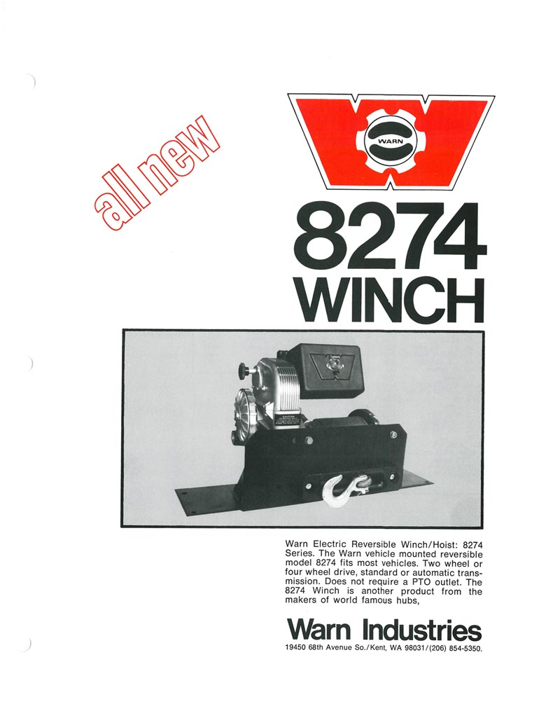 The History Of Warn M8274 Winch Industries Go Prepared 8000 Wiring Diagram Ad From 1974