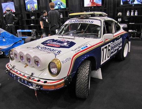 Rothmans Porsche 911 SC RS Tribute car with a WARN winch
