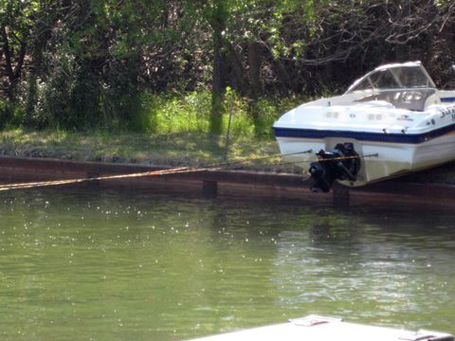 winching a boat off the bank