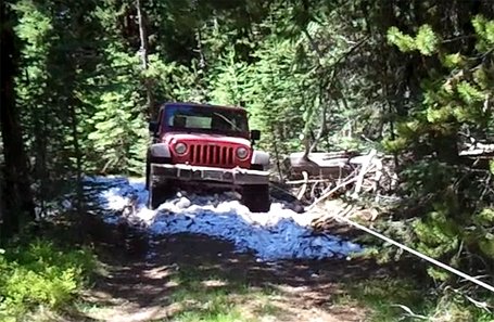 Winching out a stock Jeep