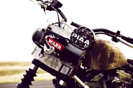 Icon Roach Harley Davidson with WARN XT17 Portable winch.