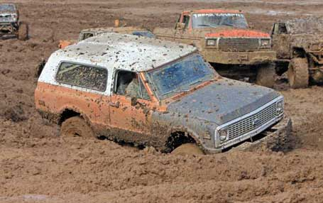 Stuck Blazer at Mud Fest in Sweet Home, OR