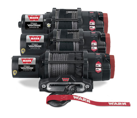 WARN ProVantage winches with synthetic rope