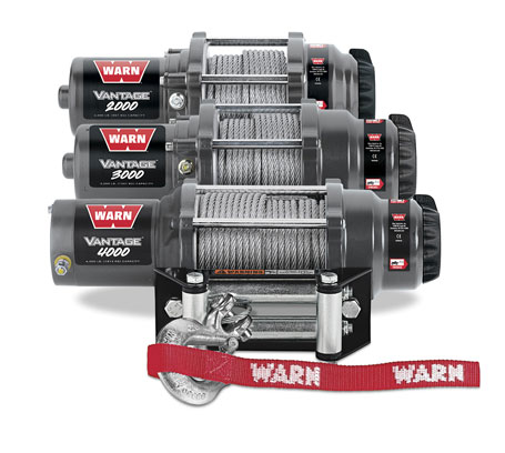 WARN Vantage winches with wire rope