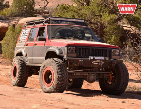 The OR-Fab Ferrar Jeep Cherokee from our WARN Media run on Metal Masher.