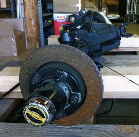 Currie Dana 44 front axle with WARN Premium Hubs