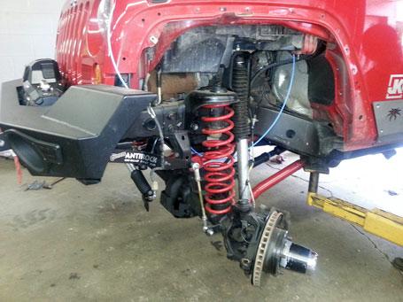 Jeep JK lift installed